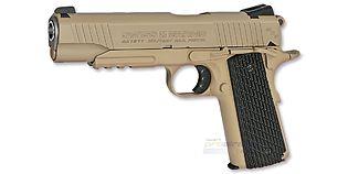 Swiss Arms M1911 Tactical Rail 4.5mm CO2, metalli heikka