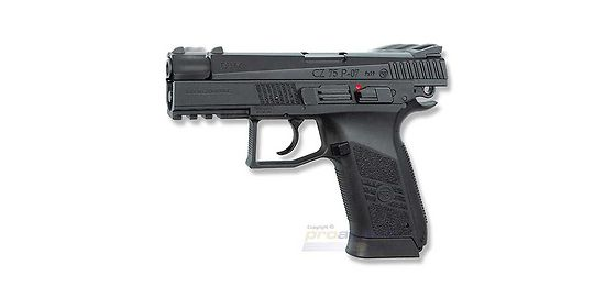 ASG CZ 75 P-07 blowback CO2 pistooli, metalli