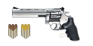 "ASG Dan Wesson 715 CO2 revolveri 6"", hopea"