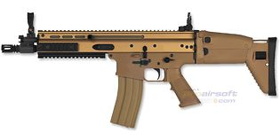 Cybergun FN SCAR-L sähköase, metalli, hiekka