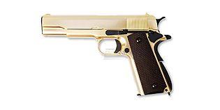 WE Colt M1911 kaasupistooli, metalli kulta