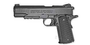 Swiss Arms M1911 Tactical Rail 4.5mm CO2, metalli musta