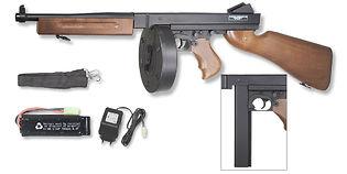 Cybergun Thompson M1A1 8.4V sähköase, puu