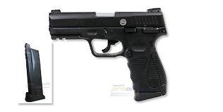 Cybergun Taurus PT 24/7 G2 blowback CO2 pistooli, metalli musta