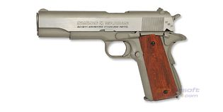 Swiss Arms M1911 Mk IV/Series' 70 4.5mm CO2, metalli hopea