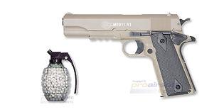 Cybergun Colt M1911 jousipistooli, metalli, hiekka