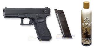 ASG Glock 18C blowback kaasupistooli, metalli