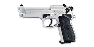 Umarex Beretta M92 FS ilmapistooli 4.5mm CO2, rihlattu piippu, hopea