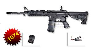"""CAA M4 Carbine 14,5"""" sähköase, musta"""