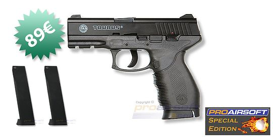 Cybergun Taurus PT 24/7 Special Edition CO2 pistooli + M100/M130 lippaat