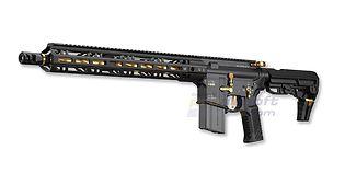 Marui MTR-16 G-Edition blowback kaasukivääri, metalli, kulta