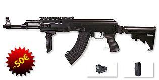 ASG AK47 Tactical sähköase paketti (Mosfet)