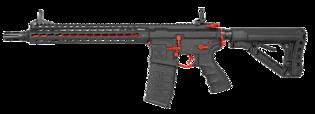 "G&G CM16 SRXL 12"" Red Edition sähköase (Mosfet)"