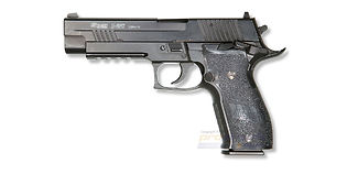 Cybergun Sig Sauer P226 X-Five blowback CO2 pistooli, metalli musta