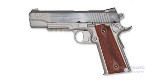 Cybergun Colt M1911 Rail CO2 pistooli, metalli hopea