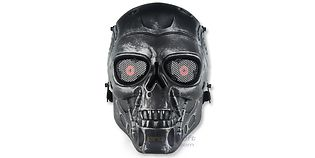 Diablo Terminaattori maski, hopea/musta