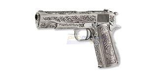 Cybergun Colt M1911 kaasu blowback, hopea kuvioitu