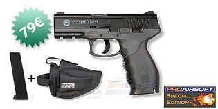 Cybergun Taurus PT 24/7 Special Edition CO2 pistooli + M130 lipas + kotelo