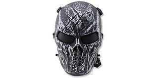 Diablo Alien maski, hopea/musta