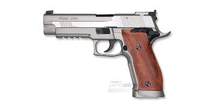 Cybergun Sig Sauer P226 X-Five blowback CO2 pistooli, metalli hopea