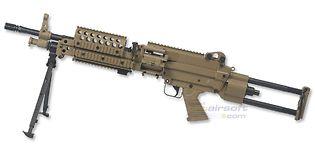 Cybergun FN Mk46 Minimi konekivääri, hiekka