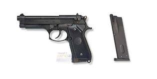 Marui Beretta M92F Military blowback kaasupistooli