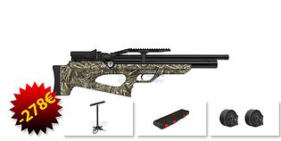 Aselkon MX10 PCP ilmakivääri 6.35mm, camo