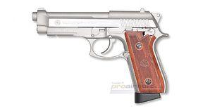 Cybergun Taurus PT92 blowback CO2 sarjatuli pistooli, metalli hopea