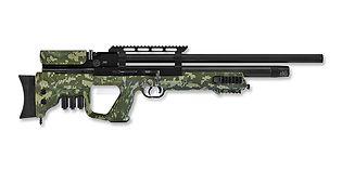 Hatsan Gladius QE M2 Long PCP ilmakivääri 6.35mm, camo