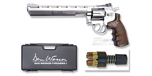 "ASG Dan Wesson CO2 revolveri 8"", hopea"