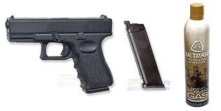 ASG Glock 19 blowback kaasupistooli, metalli